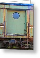 Trainyard 9 Greeting Card