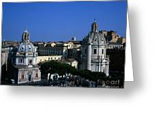 Trajan's Column Church Of Santa Maria Di Loreto Church Of Our Lady Giclee Rome Italy Greeting Card