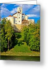 Trakoscan Castle And Green Lake  Greeting Card