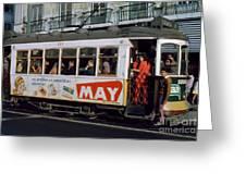 Tram 223, Graca, Lisbon, 1972 Greeting Card