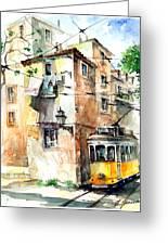 Tram In Lisboa Greeting Card