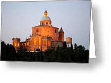 Tramonto Su San Luca, Bologna Greeting Card