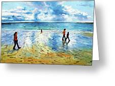 Tramore Beach Waterford Greeting Card