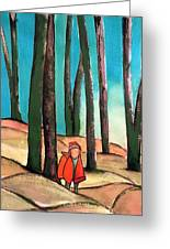 Trampling Through The Woods Greeting Card