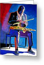 Trane - John Coltrane Greeting Card