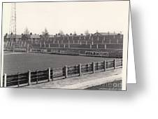 Tranmere Rovers - Prenton Park - Bebington Kop End 1 - Bw - 1967 Greeting Card