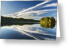 Tranquil Lake In Finland Greeting Card