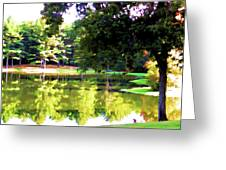 Tranquil Landscape At A Lake 1 Greeting Card