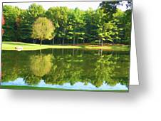 Tranquil Landscape At A Lake 2 Greeting Card