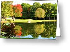 Tranquil Landscape At A Lake 3 Greeting Card