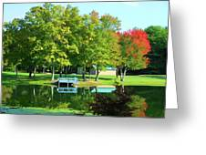 Tranquil Landscape At A Lake 4 Greeting Card
