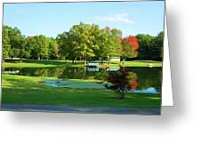 Tranquil Landscape At A Lake 5 Greeting Card