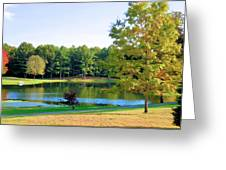 Tranquil Landscape At A Lake 6 Greeting Card