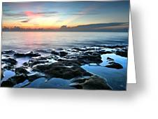 Tranquil Sunrise At Coral Cove Beach Greeting Card
