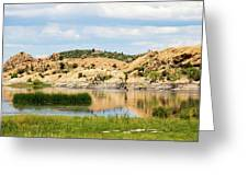 Tranquil Willow Lake Greeting Card