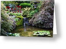 Tranquility In A Japanese Garden Greeting Card