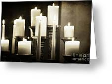 Tranquility Of Candlelight Greeting Card