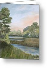 Tranquility Greeting Card by Shirley Lawing