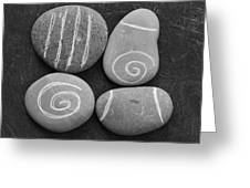 Tranquility Stones Greeting Card by Linda Woods