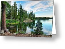 Tranquility - Twin Lakes In Mammoth Lakes California Greeting Card