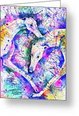 Transcendent Greyhounds Greeting Card