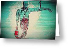 Transfusion Uninterrupted Greeting Card by Paulo Zerbato