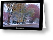 Transitions Autumn To Winter Snow Poster Greeting Card