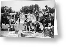 Transjordan: Frontier Guards Greeting Card