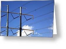 Transmission Lines Greeting Card
