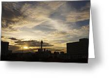 Transpicuous Balcony Sunset #0010 Greeting Card