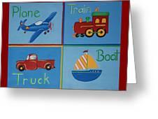 Transportation Modes Greeting Card