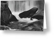 Trap Falls In Ashby Ma Black And White 6 Greeting Card