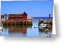 Trap House At Head Of Harbor Greeting Card
