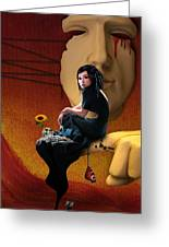 Trapped In My Own Fantasy Greeting Card by Ausra Kel