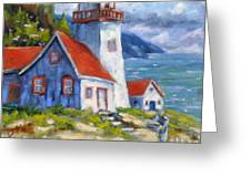 Traps And Lighthouse Greeting Card