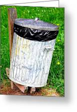 Trash Can Abstract. Greeting Card