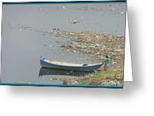 Trashy River Greeting Card