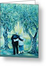 Travel Notebook.olive Groves Greeting Card