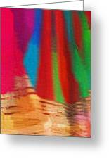 Travel Shopping Colorful Scarves Abstract Series India Rajasthan 1b Greeting Card