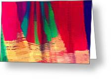 Travel Shopping Colorful Scarves Abstract Series Square India Rajasthan 1h Greeting Card