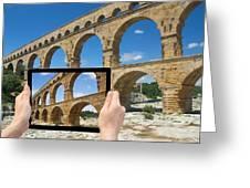 Travel To Pont Du Gard  Greeting Card