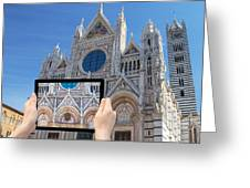 Travel To Siena Concept Greeting Card