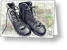 Traveling Boots Kentucky Greeting Card