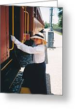 Traveling By Train Greeting Card