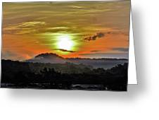 Traveling Sunrise Greeting Card