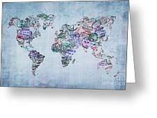 Traveler World Map Greeting Card