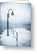 Traverse City Michigan Scenery Around On Lake Michigan Greeting Card