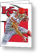 Travis Kelce Kansas City Chiefs Oil Art Greeting Card