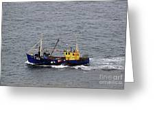 Trawling Off The Dingle Peninsula In Ireland Greeting Card