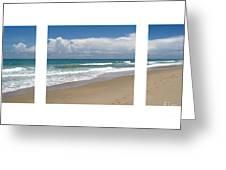 Treasure Coast Beach Florida Seascape C4 Triptych 2 Greeting Card